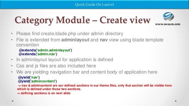 Laravel - Website Development in Php Framework Part 2