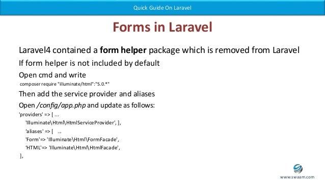 Laravel - Website Development in Php Framework