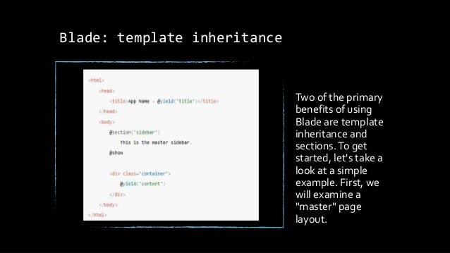 Laravel tutorial ppt for Php template inheritance