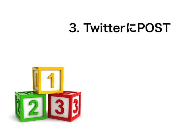 3. TwitterにPOST
