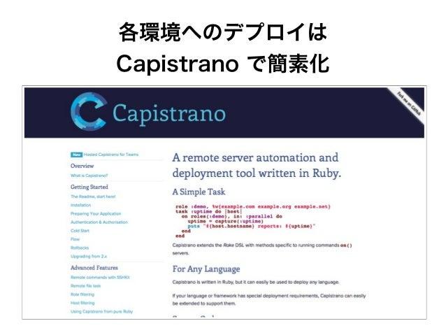 各環境へのデプロイは Capistrano で簡素化