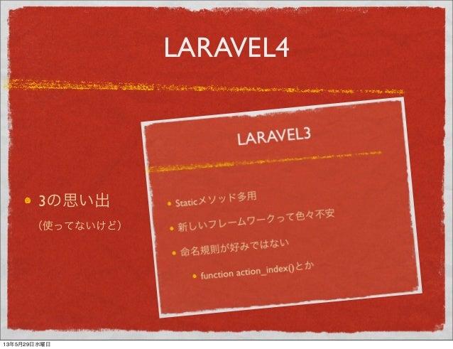 LARAVEL43の思い出(使ってないけど)13年5月29日水曜日
