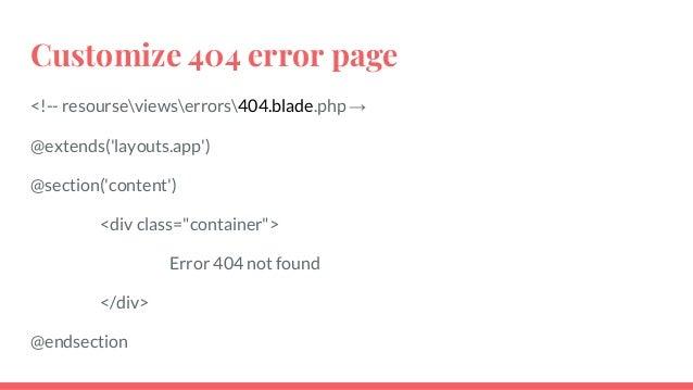 Laravel Show 500 Error Page