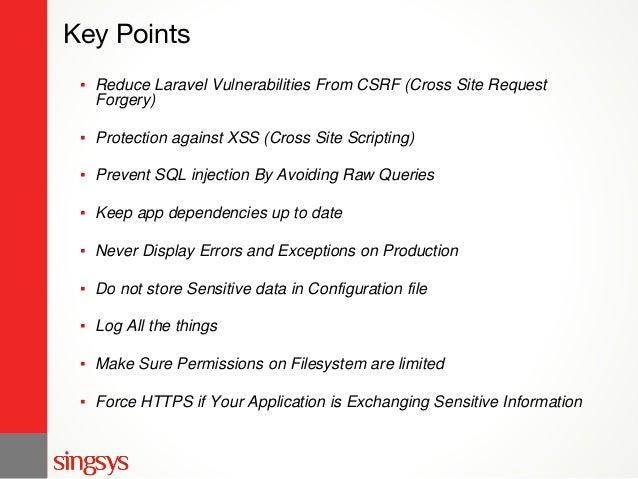 Laravel Security Standards