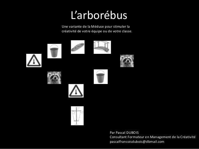 L'arborébus Une variante de la Méduse pour stimuler la créativité de votre équipe ou de votre classe.  Par Pascal DUBOIS C...