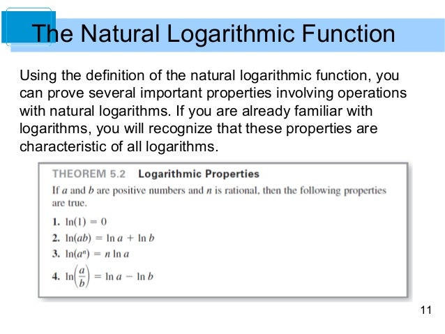 Rewrite Using Natural Logarithms