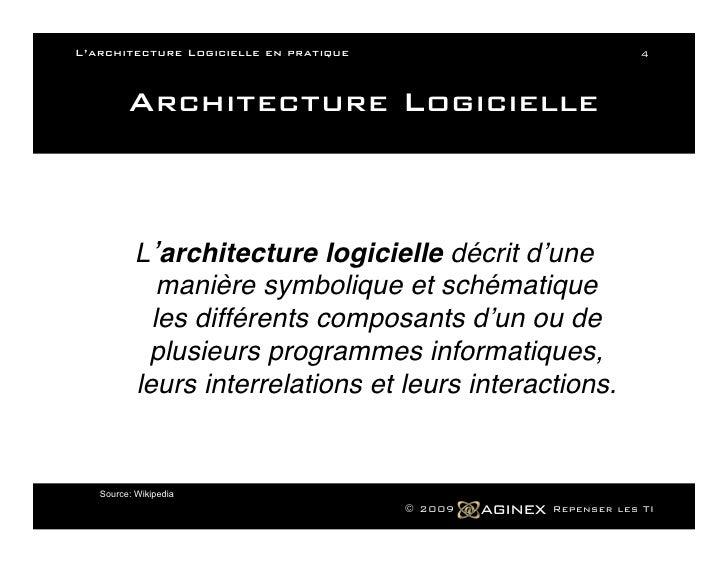 L architecture logicielle en pratique for Architecture symbolique