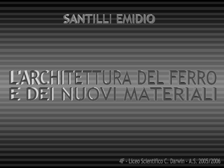 Introduzione                      La nuova architettura                                      in Inghilterra          La nu...