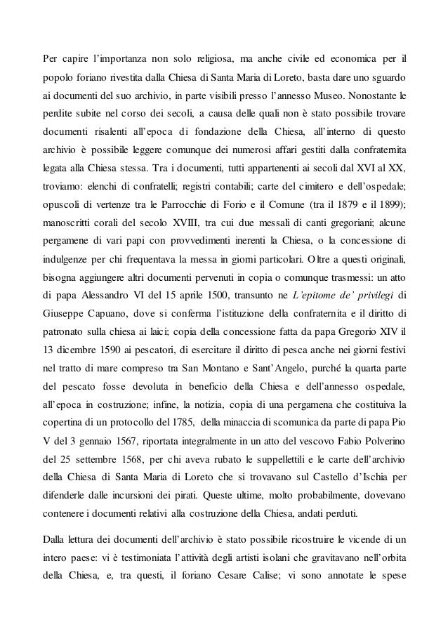 Per capire l'importanza non solo religiosa, ma anche civile ed economica per il popolo foriano rivestita dalla Chiesa di S...