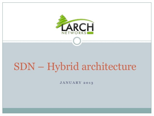 SDN – Hybrid architecture         JANUARY 2013