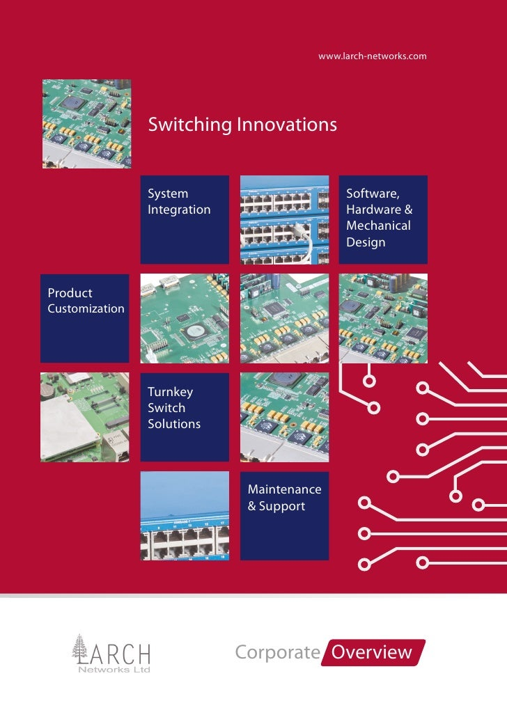 www.larch-networks.com                Switching Innovations                System                        Software,        ...