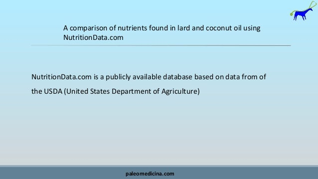 Lard or coconut oil Slide 2