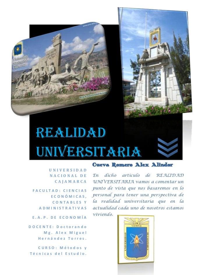 -900101-967683278505-498475REALIDAD UNIVERSITARIA31784066350866UNIVERSIDAD NACIONAL DE CAJAMARCAFACULTAD: CIENCIAS ECONÓMI...