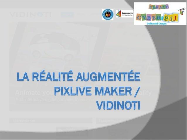 Définition  La réalité augmentée désigne les systèmes informatiques qui rendent possible la superposition d'un modèle vir...