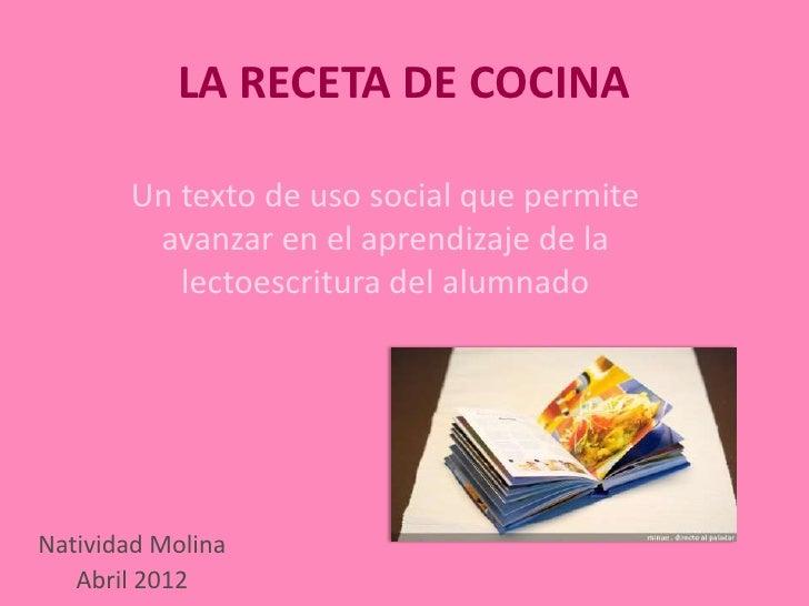 La receta de cocina campotejar 2012 for Elementos cocina