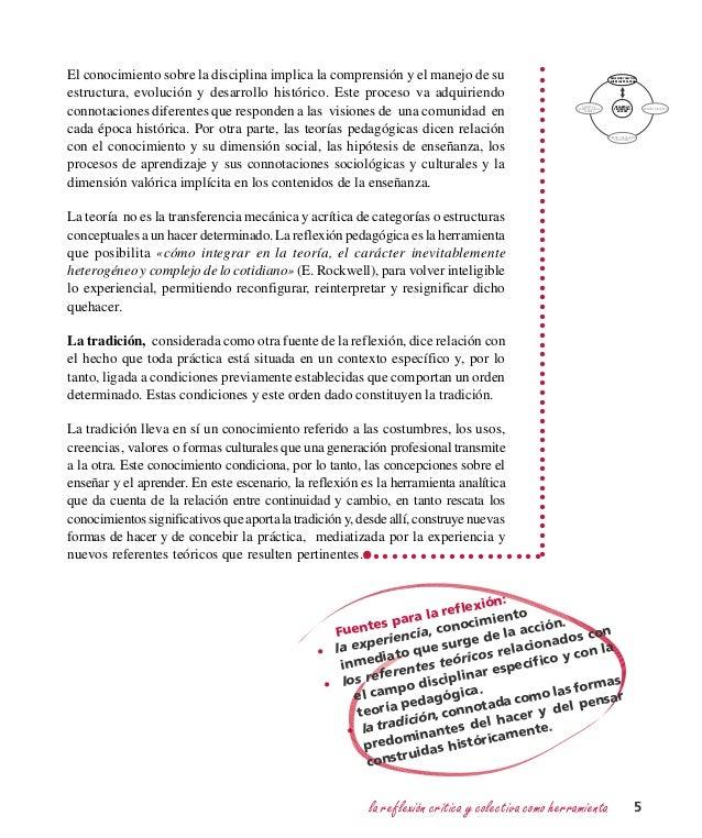 la reflexión crítica y colectiva como herramienta 5 DESARROLLO PROFESIONAL DOCENTE REFLEXIÓN COLECTIVA SOBRE LAS PRÁCTICAS...