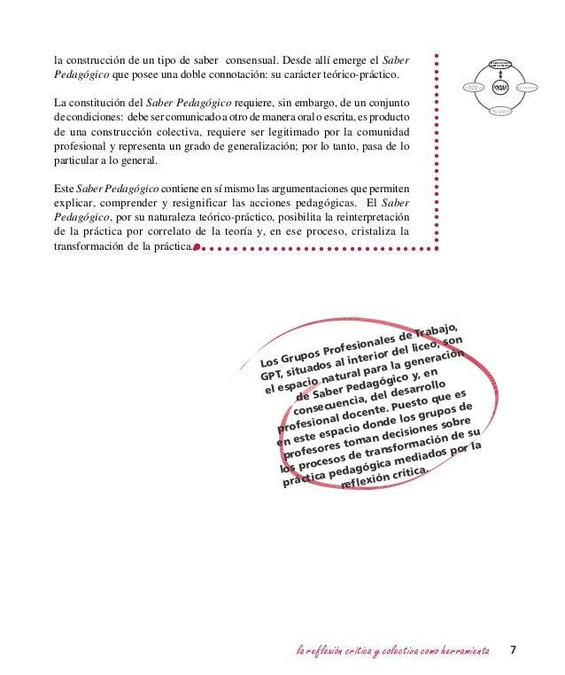 la reflexión crítica y colectiva como herramienta 7 DESARROLLO PROFESIONAL DOCENTE REFLEXIÓN COLECTIVA SOBRE LAS PRÁCTICAS...