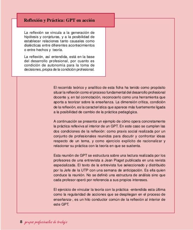 Reflexión y Práctica: GPT en acción El recorrido teórico y analítico de esta ficha ha tenido como propósito situar la refl...