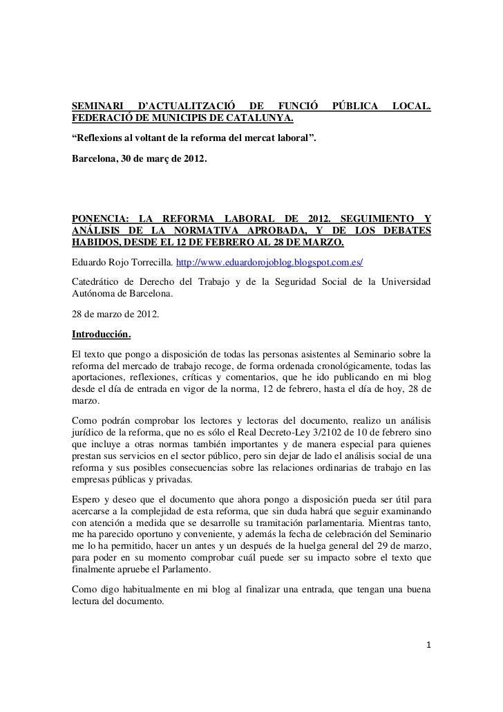 SEMINARI D'ACTUALITZACIÓ DE FUNCIÓ                                PÚBLICA         LOCAL.FEDERACIÓ DE MUNICIPIS DE CATALUNY...