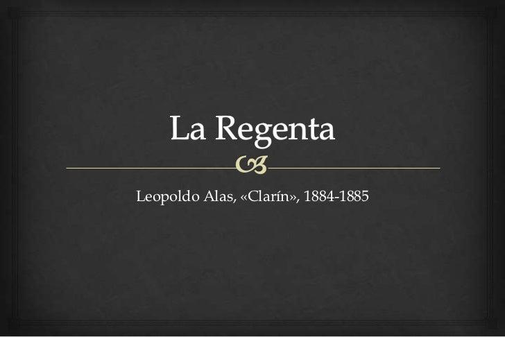 Leopoldo Alas, «Clarín», 1884-1885