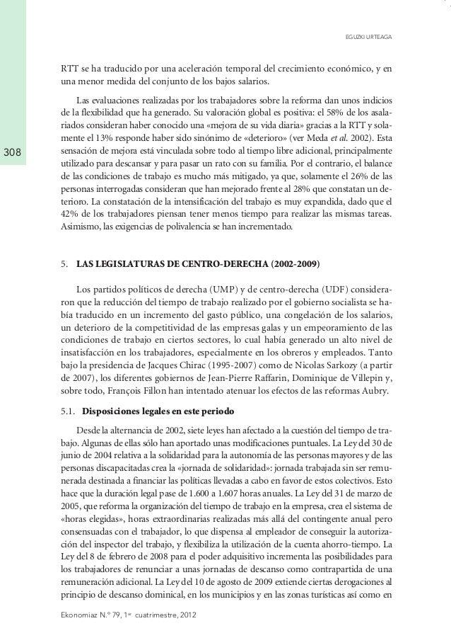 La regulación del tiempo de trabajo en francia