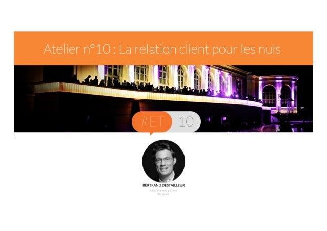 Le B.A.-BA du CRM  Titre de la présentation  La relation client pour les nuls (désolé… )  Intervenant - date  Bertrand Des...