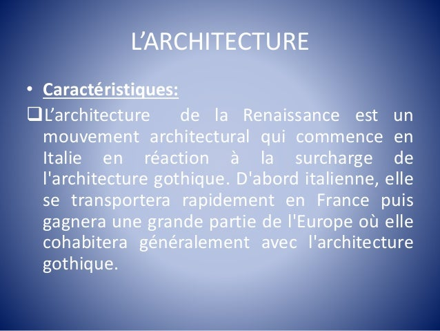 La renaissance for Architecture italienne