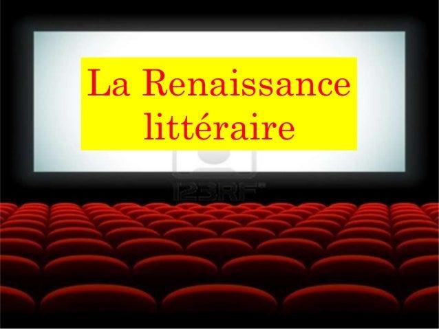 La Renaissance littéraire