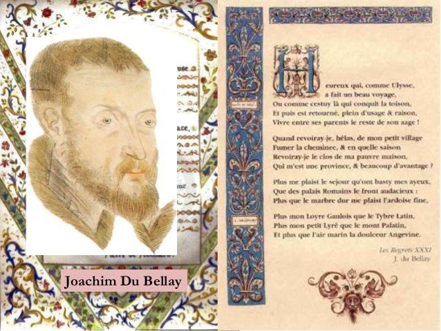La Pléiade Pierre de Ronsard Joachim Du Bellay