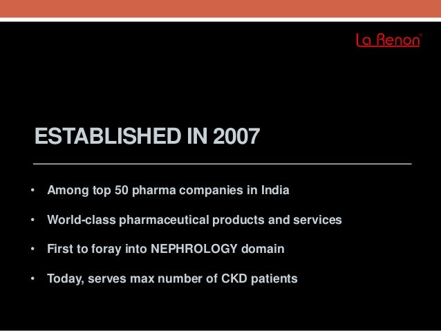La Renon among top pharmaceutical companies in India