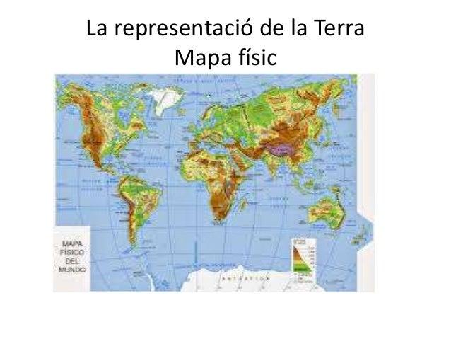 La representació de la Terra Mapa físic
