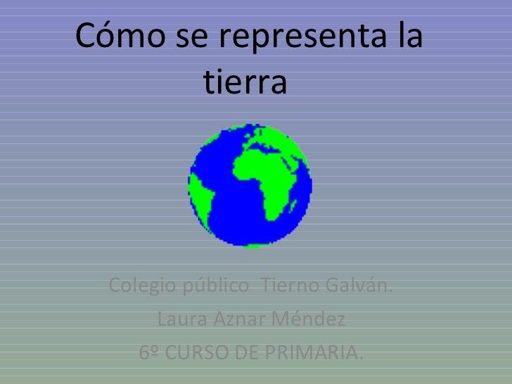 Cómo se representa la tierra  Colegio público  Tierno Galván. Laura Aznar Méndez 6º CURSO DE PRIMARIA.