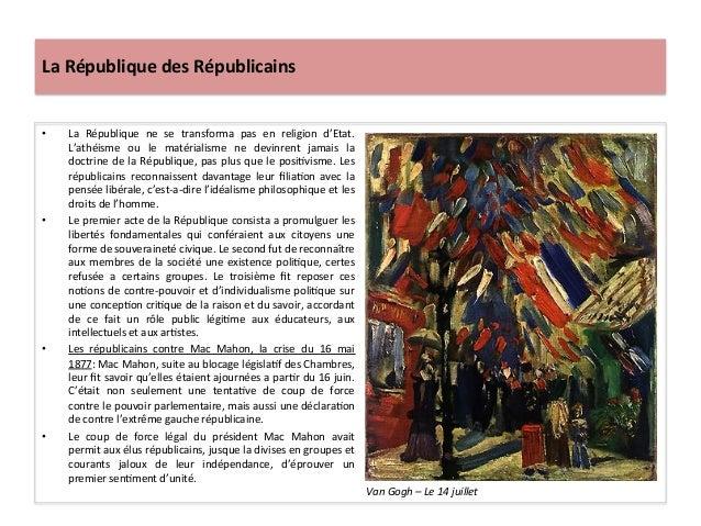 La  République  des  Républicains   • La   République   ne   se   transforma   pas   en   religion...