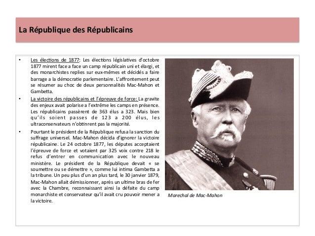 La  République  des  Républicains   • Les   élecCons   de   1877:   Les   élecCons   législaCves   ...