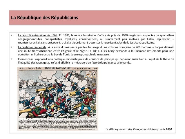 La  République  des  Républicains   • La  républicanisassions  de  l'Etat:  En  1883,  la  mise  ...