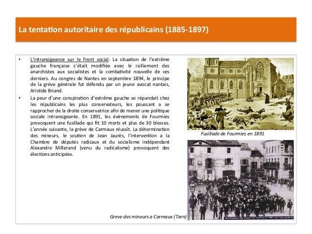 La  tenta)on  autoritaire  des  républicains  (1885-‐1897)   • L'intransigeance   sur   le   front  ...