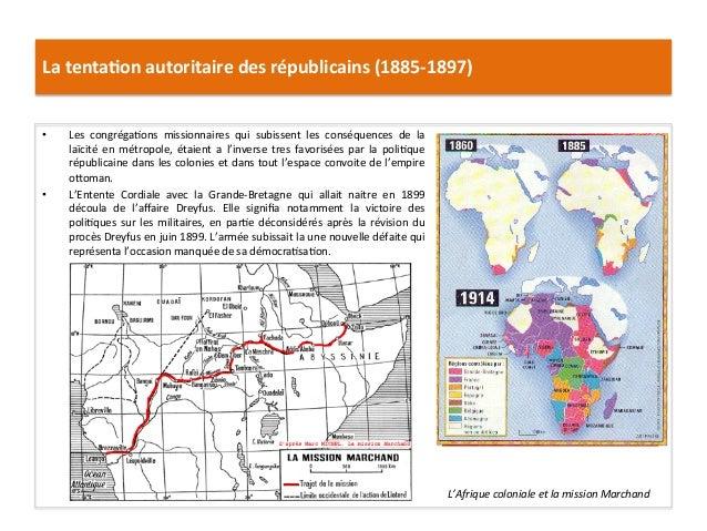 La  tenta)on  autoritaire  des  républicains  (1885-‐1897)   • Les   congrégaCons   missionnaires   qu...