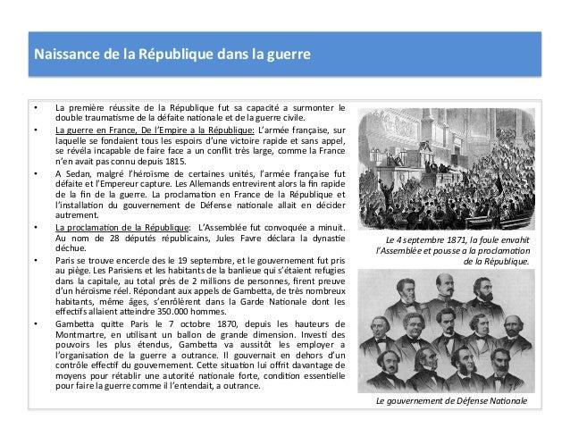 Naissance  de  la  République  dans  la  guerre   • La   première   réussite   de   la   Républiq...