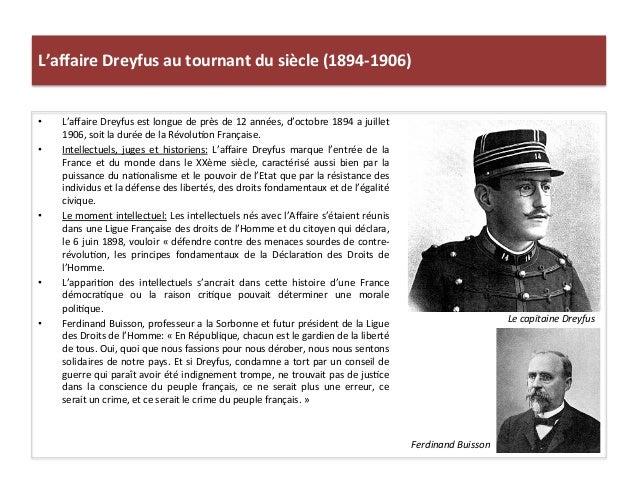 L'affaire  Dreyfus  au  tournant  du  siècle  (1894-‐1906)   • L'affaire  Dreyfus  est  longue  de ...