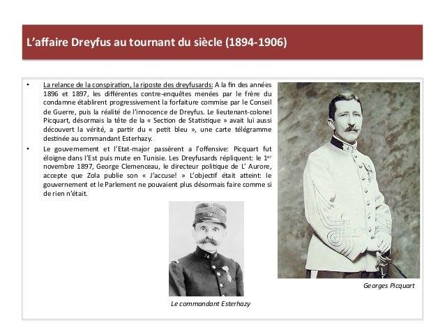 L'affaire  Dreyfus  au  tournant  du  siècle  (1894-‐1906)   • La  relance  de  la  conspiraCon,  ...