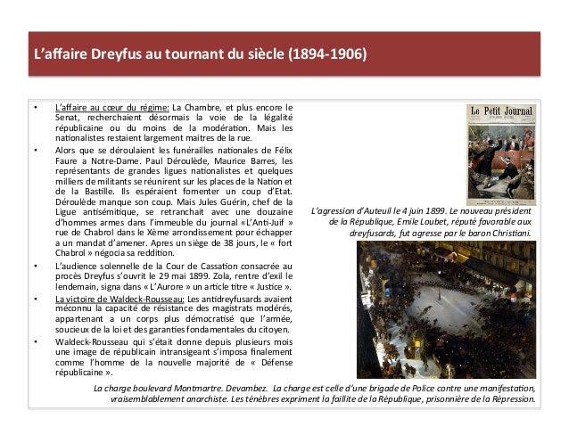 L'affaire  Dreyfus  au  tournant  du  siècle  (1894-‐1906)   • L'affaire  au  cœur  du  régime:  L...