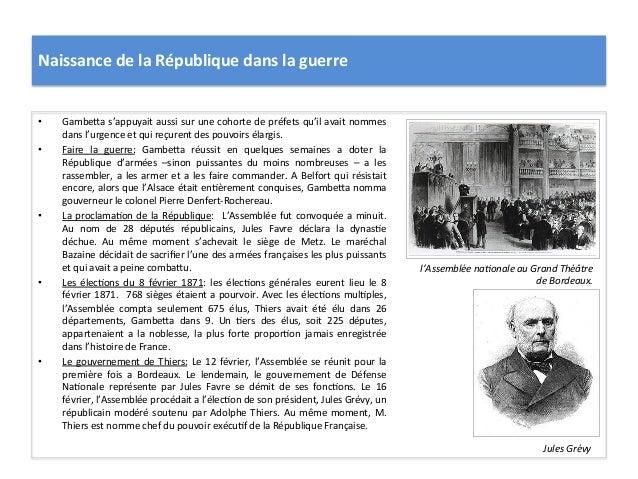 Naissance  de  la  République  dans  la  guerre   • GambeIa  s'appuyait  aussi  sur  une  cohorte...