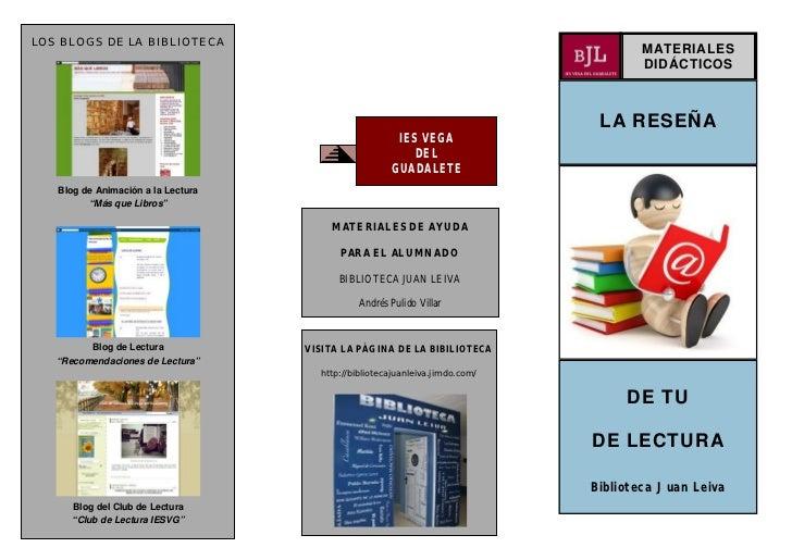 LOS BLOGS DE LA BIBLIOTECA                                                                                      MATERIALES...