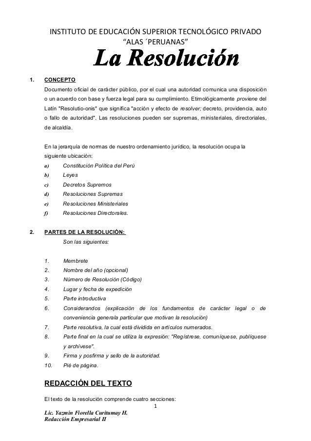"""INSTITUTO DE EDUCACIÓN SUPERIOR TECNOLÓGICO PRIVADO """"ALAS ´PERUANAS"""" 1. CONCEPTO Documento oficial de carácter público, po..."""