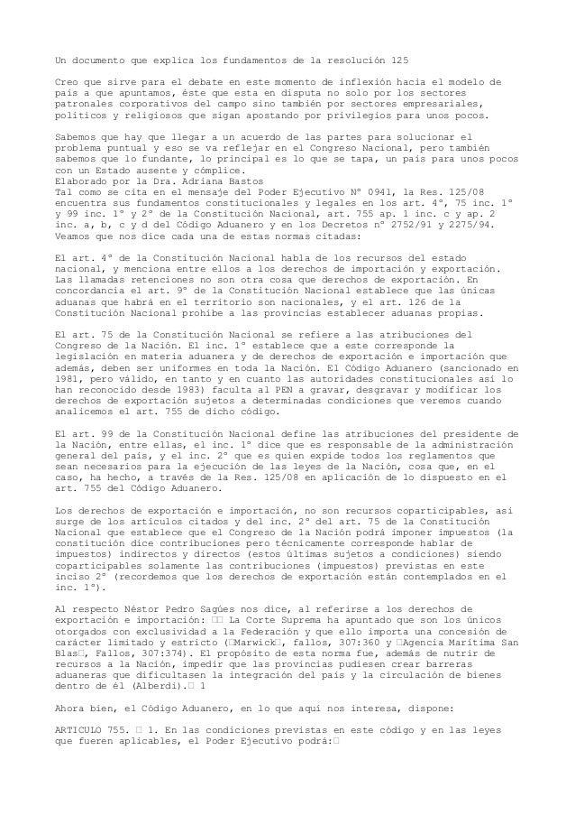 Un documento que explica los fundamentos de la resolución 125Creo que sirve para el debate en este momento de inflexión ha...