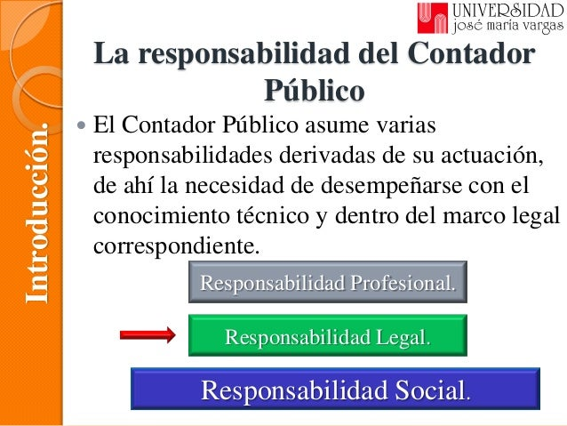 La responsabilidad legal del contador for Responsabilidad legal