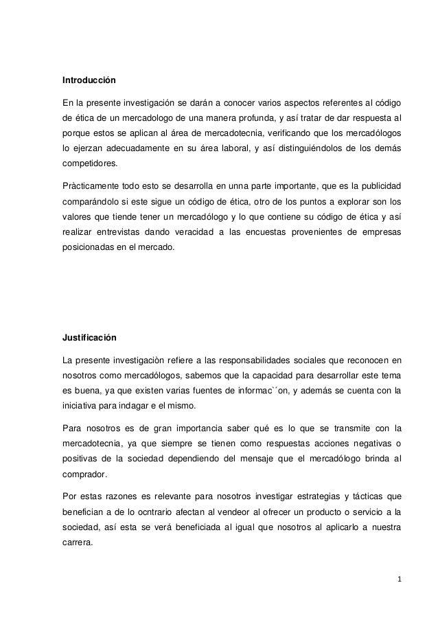 CODIGO ETICO Y PROFESIONAL DE MERCADEO
