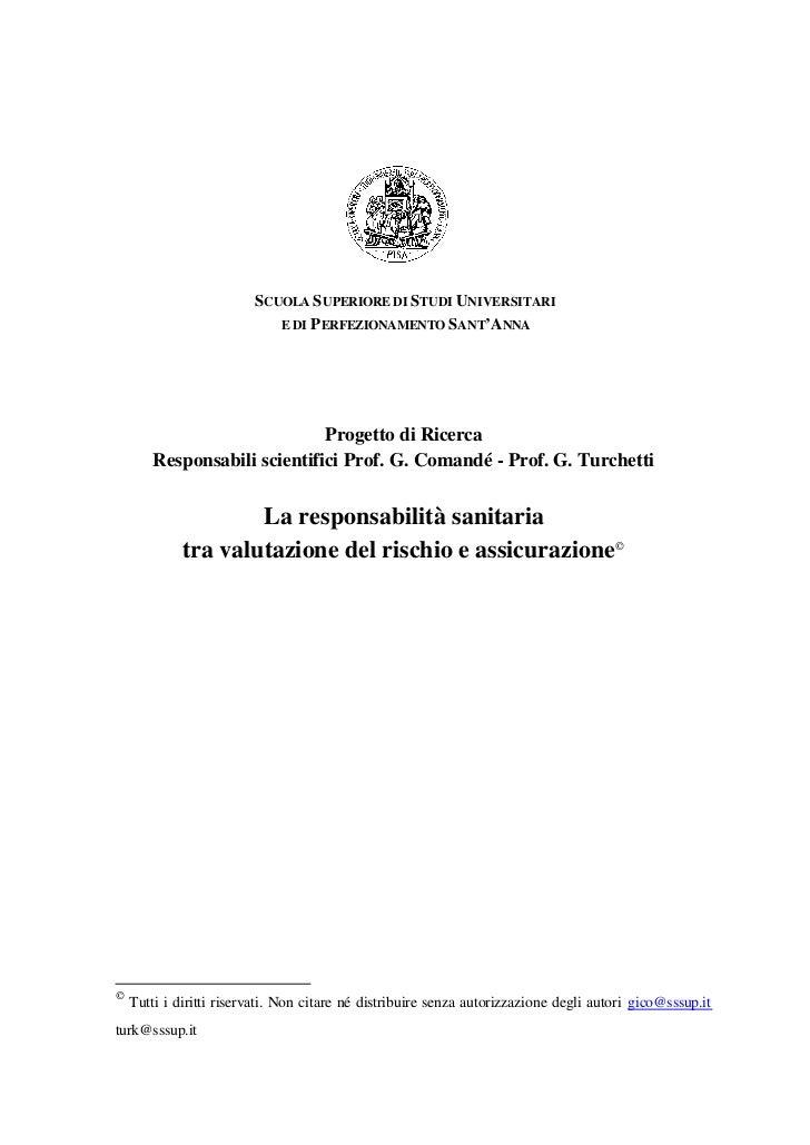SCUOLA S UPERIORE DI STUDI UNIVERSITARI                            E DI PERFEZIONAMENTO SANT'ANNA                         ...