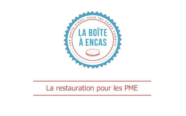 La restauration pour les PME