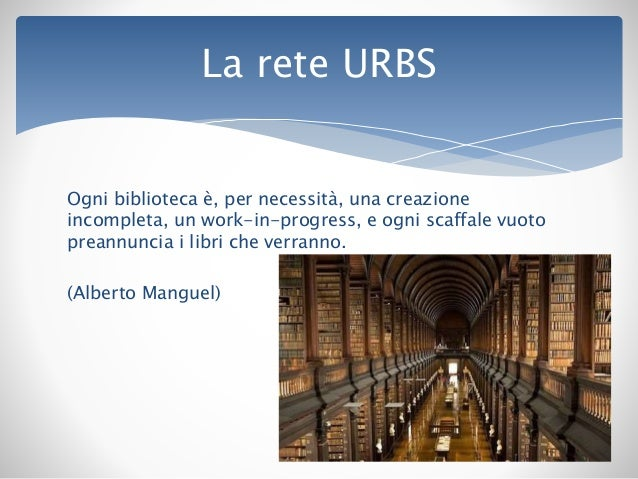 La rete urbs e il nuovo catalogo la scelta dell open for Progress catalogo 2015